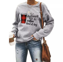 Load image into Gallery viewer, WINE & COFFEE Heart Sweatshirt - ZZSales