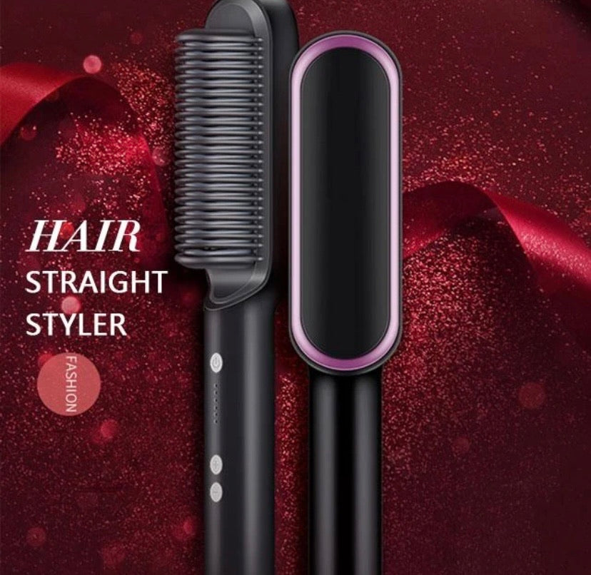 Professional Electric Hair Straightener & Curler - ZZSales