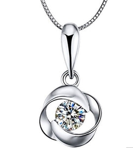 Topaz Pendant Necklace Set Sterling Silver 2.75 Carats - ZZSales