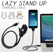 Load image into Gallery viewer, Lazy Stand Up Charging Cable - zzsales