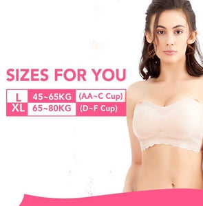 Supportive Ice Silk Tube Bra - zzsales