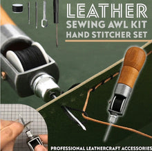 Load image into Gallery viewer, Leather Sewing Awl Kit Hand Stitcher Set - ZZSales