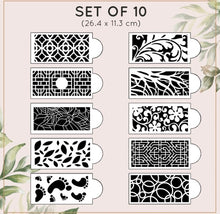 Load image into Gallery viewer, Cake Lace Decoration Stencil Set