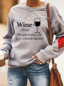 WINE & COFFEE Heart Sweatshirt - ZZSales