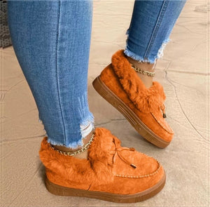 Winter Comfy Suede Casual Fashion Flat Snow Boots - ZZSales