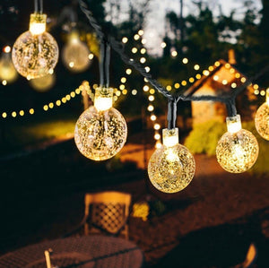 Solar Powered LED Outdoor String Lights - ZZSales
