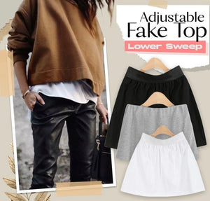 Adjustable Layering Fake Top Lower Sweep - ZZSales