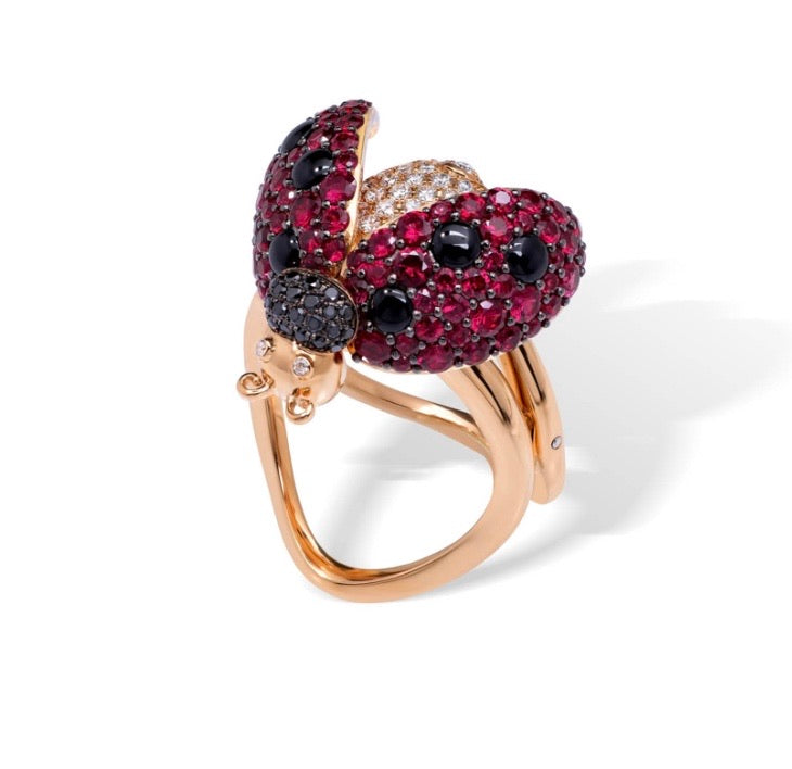 DOPEN Movable Ruby Ring
