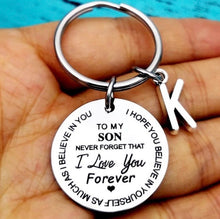 "Load image into Gallery viewer, ""Love you Forever"" Personalized Keychain - ZZSales"