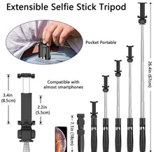 Load image into Gallery viewer, 3 In 1 Wireless Bluetooth Selfie Stick - zzsales