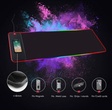 Load image into Gallery viewer, RGB Wireless 10w/15w Charging Oversized Mouse Pad - ZZSales