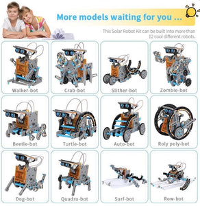12-in-1 Education Solar Robot Toys - zzsales
