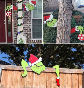 Christmas Yard Art Fence Peeker - ZZSales