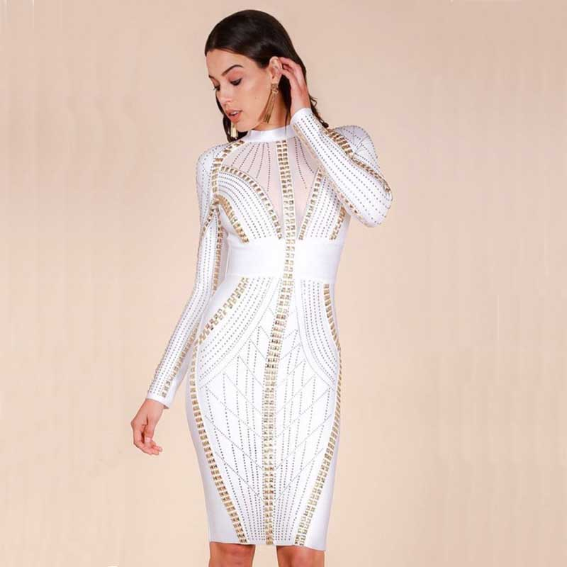Stretch luxury Cocktail bandage dress