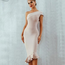 Load image into Gallery viewer, Vestidos One Shoulder Sleeveless Bandage Dress