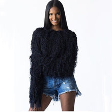 Load image into Gallery viewer, Tassel Knitted Pullover Sweater