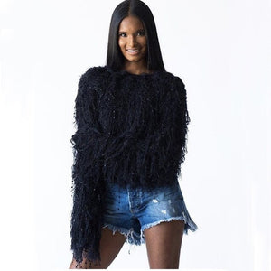 Tassel Knitted Pullover Sweater