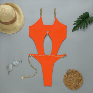 Sexy Ring Push Up Bikini Set