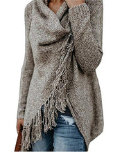 Load image into Gallery viewer, Women Long Fringed Knitted Sweater