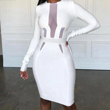 Load image into Gallery viewer, Sexy White Bandage  Bodycon Dress