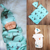 Cute Baby Swaddle & Hat