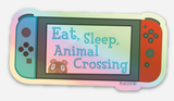 Holographic Animal Crossing Nintendo Switch Sticker (Neon)