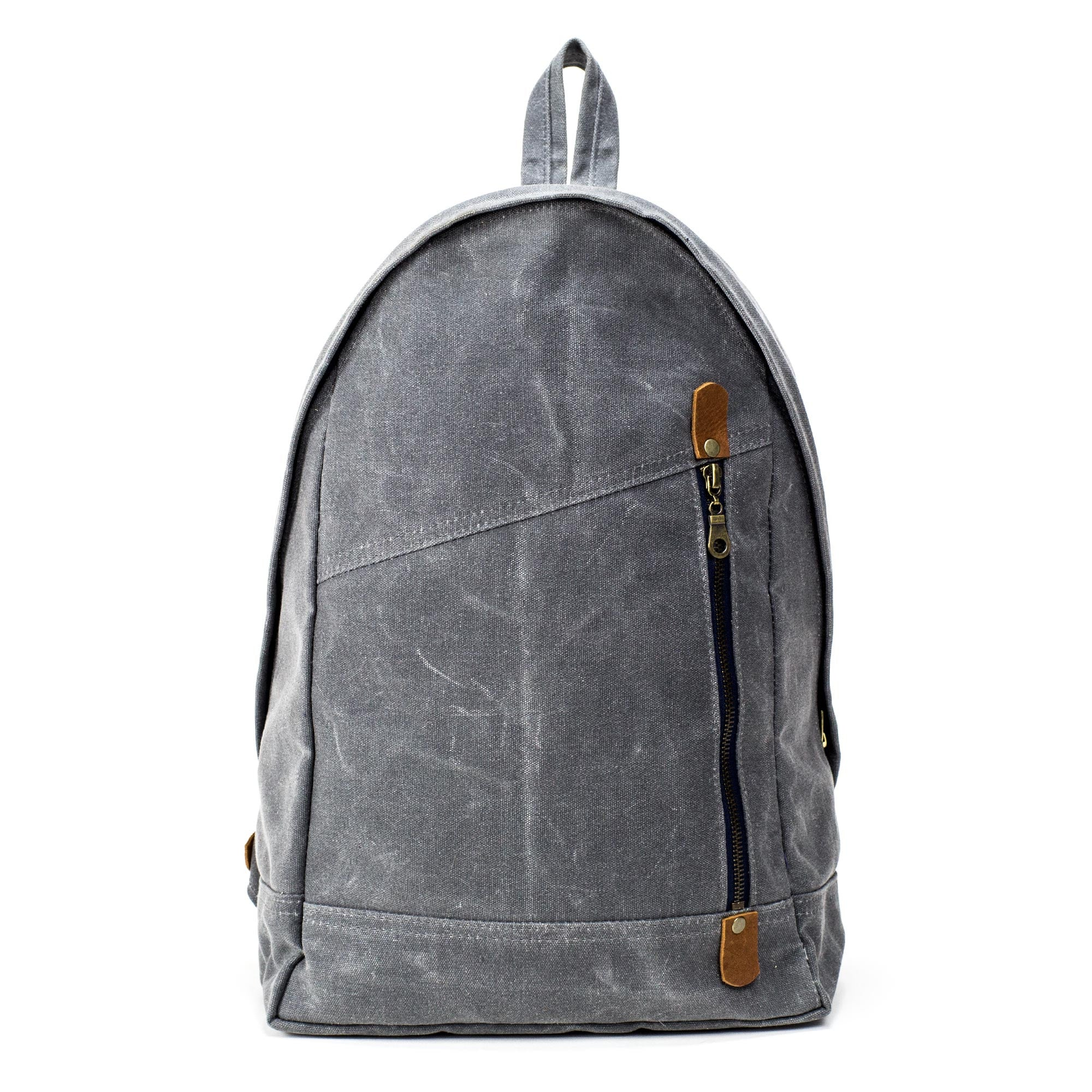 The Book Bag   Waxed Canvas Backpack - STONE   CLOTH abb388c5f0