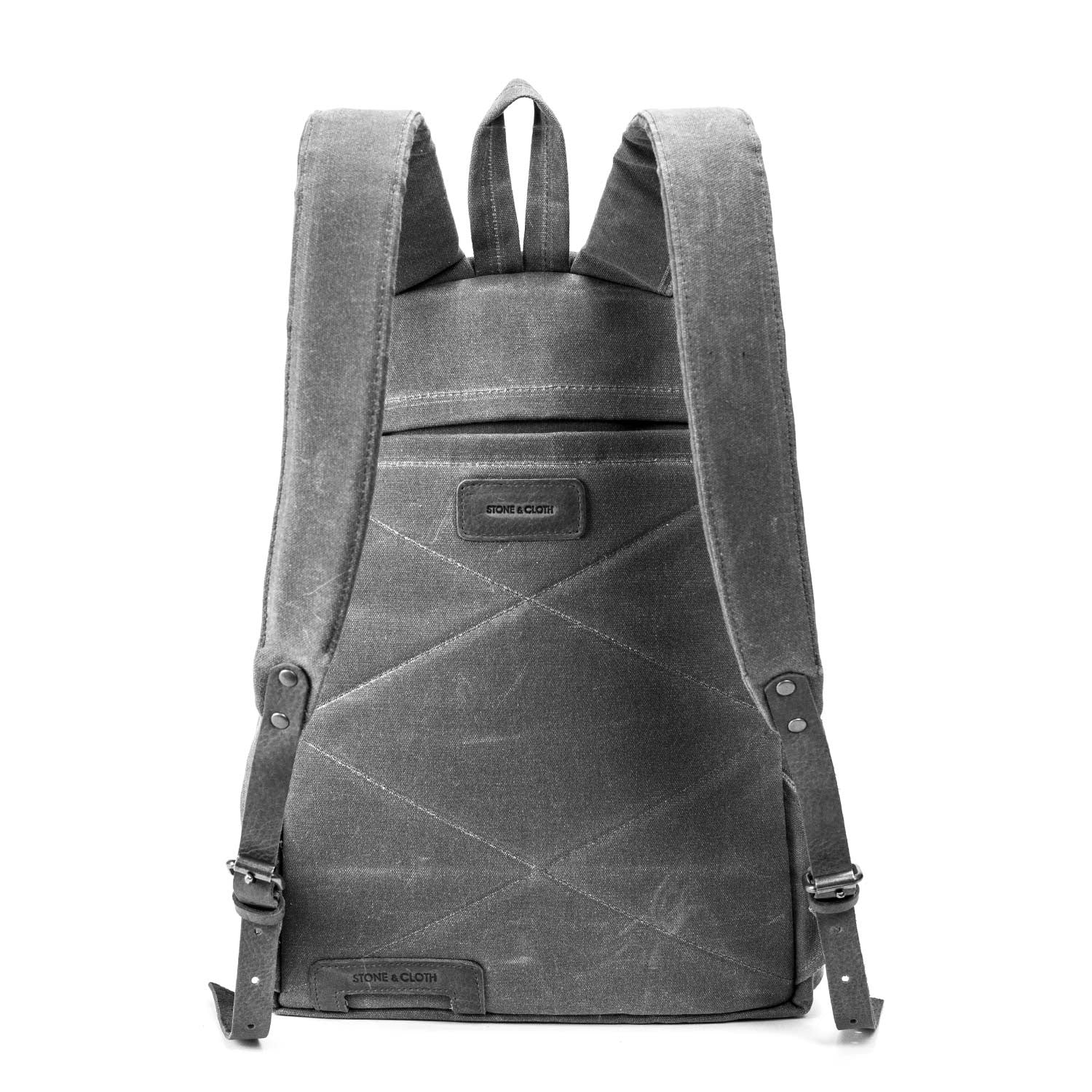 d827983102 Berchirly Vintage Men Casual Canvas Leather Backpack Rucksack ... Berchirly  Vintage Men Casual Canvas Leather Backpack Rucksack Bookbag Satchel ...