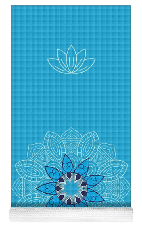 Ice Mandala - Yoga Mat eco-friendly PVC - 8 Petals Apparel