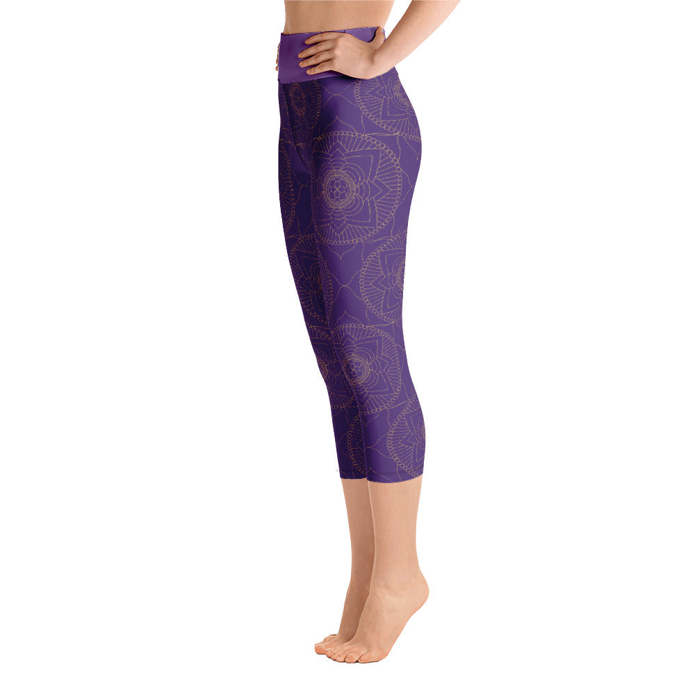 Purple Zen Yoga Leggings - 8 Petals Apparel