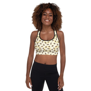 Sloths Yoga Padded Sports Bra - 8 Petals Apparel