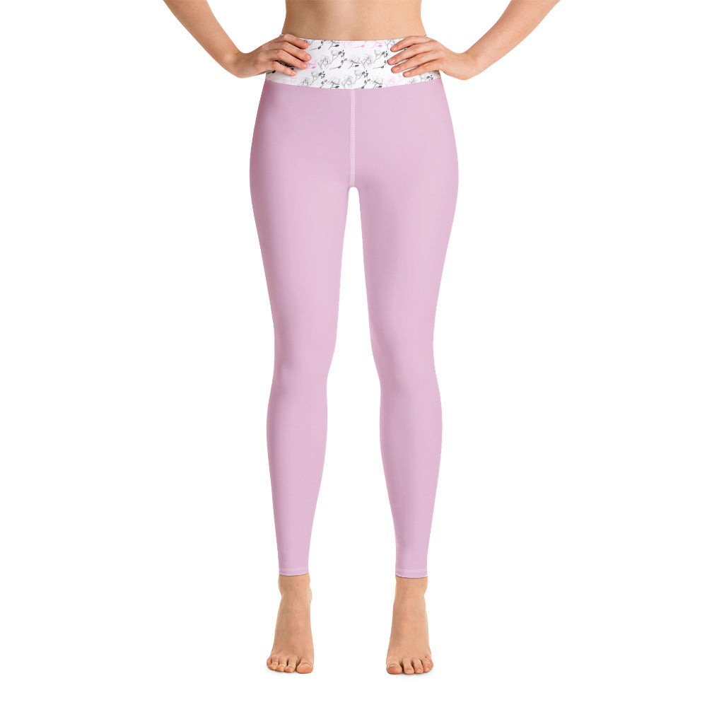 Pink Blooms Yoga Leggings - 8 Petals Apparel