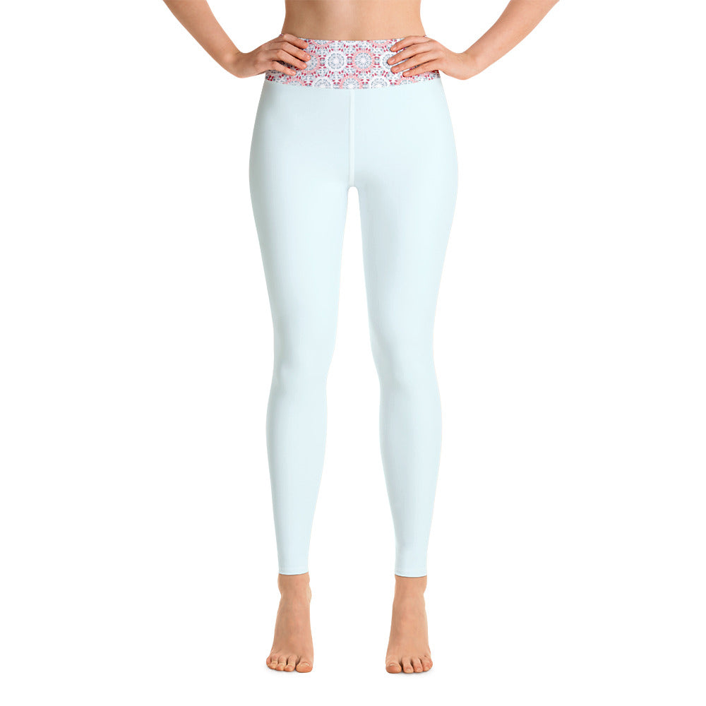 Roses Mandala Yoga Leggings - 8 Petals Apparel