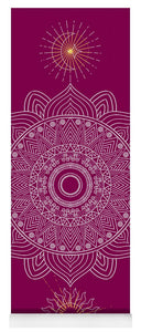 Moon & Sun Mandala - Yoga Mat eco-friendly PVC - 8 Petals Apparel