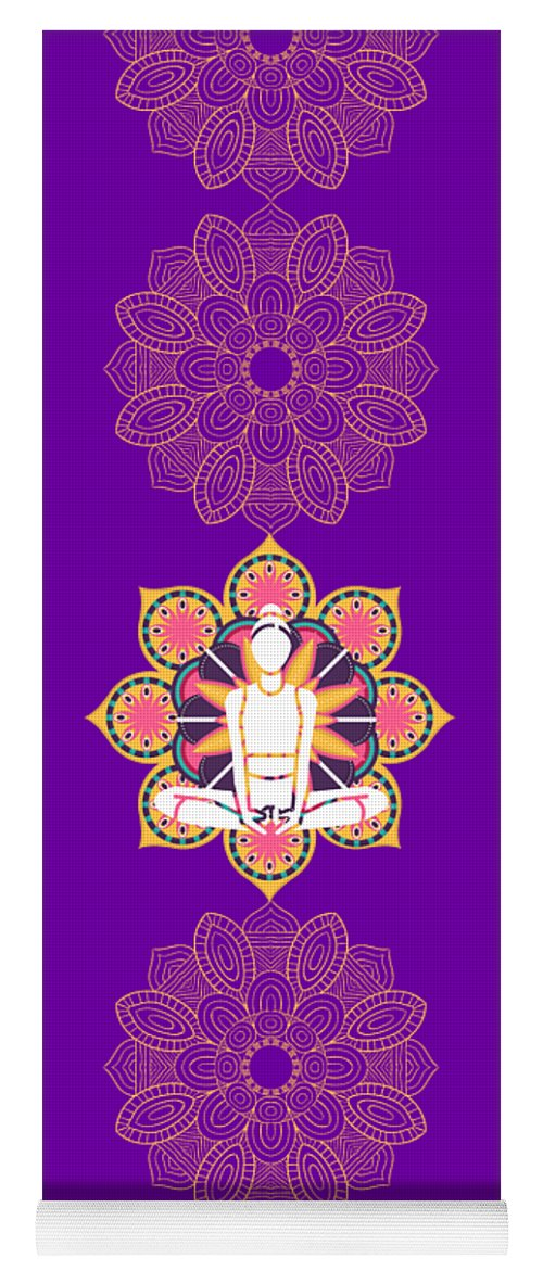 Om Yellow Lotus - Yoga Mat eco-friendly PVC - 8 Petals Apparel