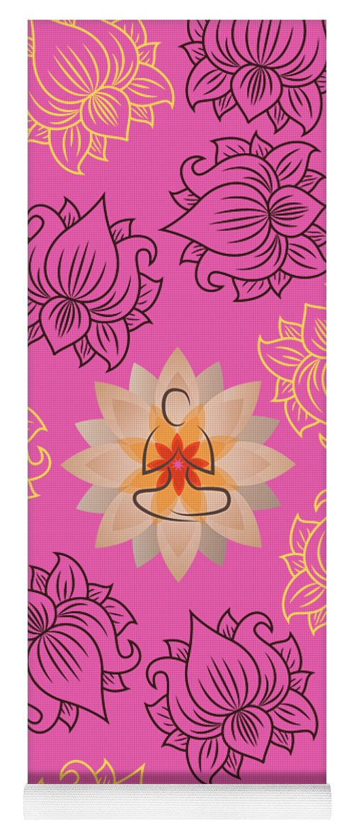 Om Zen - Yoga Mat eco-friendly PVC - 8 Petals Apparel