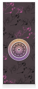 Pink Leaf Mandala - Yoga Mat eco-friendly PVC - 8 Petals Apparel