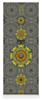 Load image into Gallery viewer, Yellow Mandala - Yoga Mat eco-friendly PVC - 8 Petals Apparel