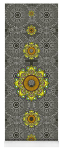 Yellow Mandala - Yoga Mat eco-friendly PVC - 8 Petals Apparel