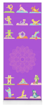 Load image into Gallery viewer, Yoga Cats - Yoga Mat eco-friendly PVC - 8 Petals Apparel