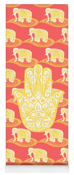 Load image into Gallery viewer, Golden Palm - Yoga Mat eco-friendly PVC - 8 Petals Apparel