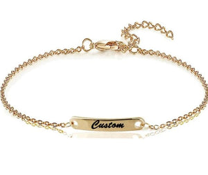 18k Gold Plated Engraved Custom Bracelet