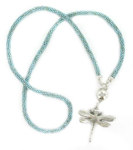 Long Dragonfly Necklace - Flamingo Boutique
