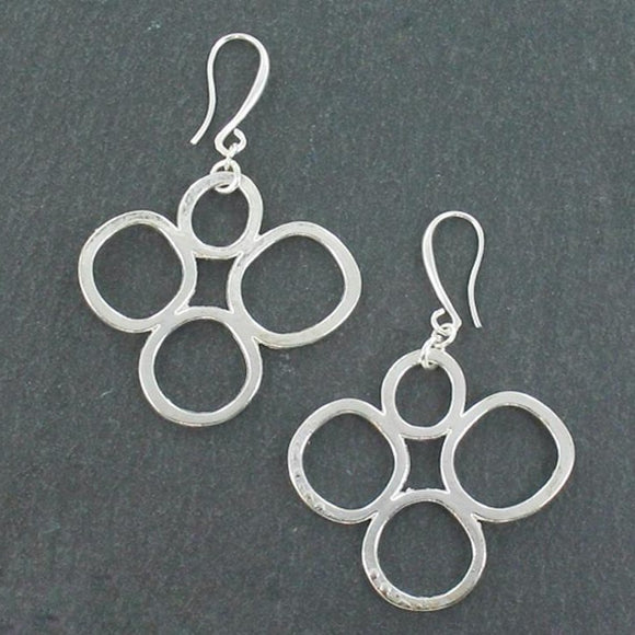 Bubble Earrings In Silver Plate - Flamingo Boutique