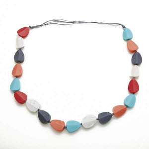 Long Resin Pebble Necklace - Flamingo Boutique