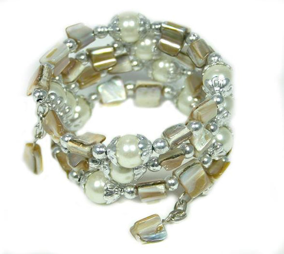Shell Spiral Bracelet - Flamingo Boutique