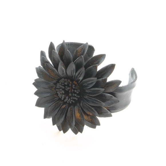Leather Flower Cuff