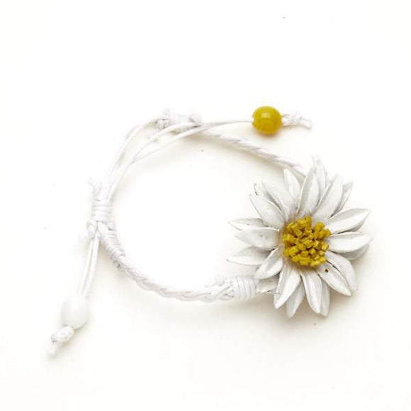 Leather Flower Bracelet - Flamingo Boutique