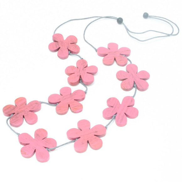 Wooden Flower Necklace