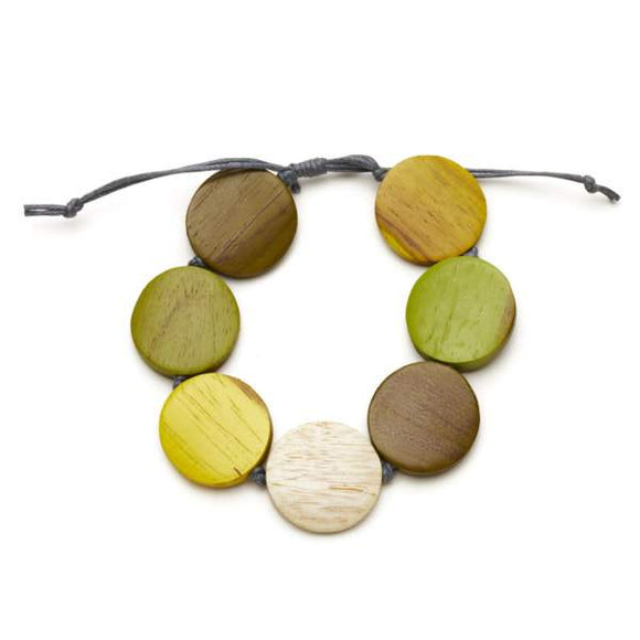 Round Wooden Bracelet - Flamingo Boutique